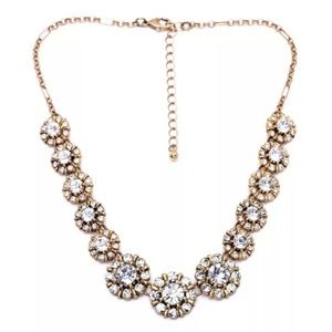 chunky sparkly crystals necklace